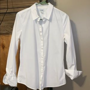 White Old Navy Button Down Shirt